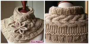 diy4ever-Gorgeous Knitted Flower Scarf - Free Pattern