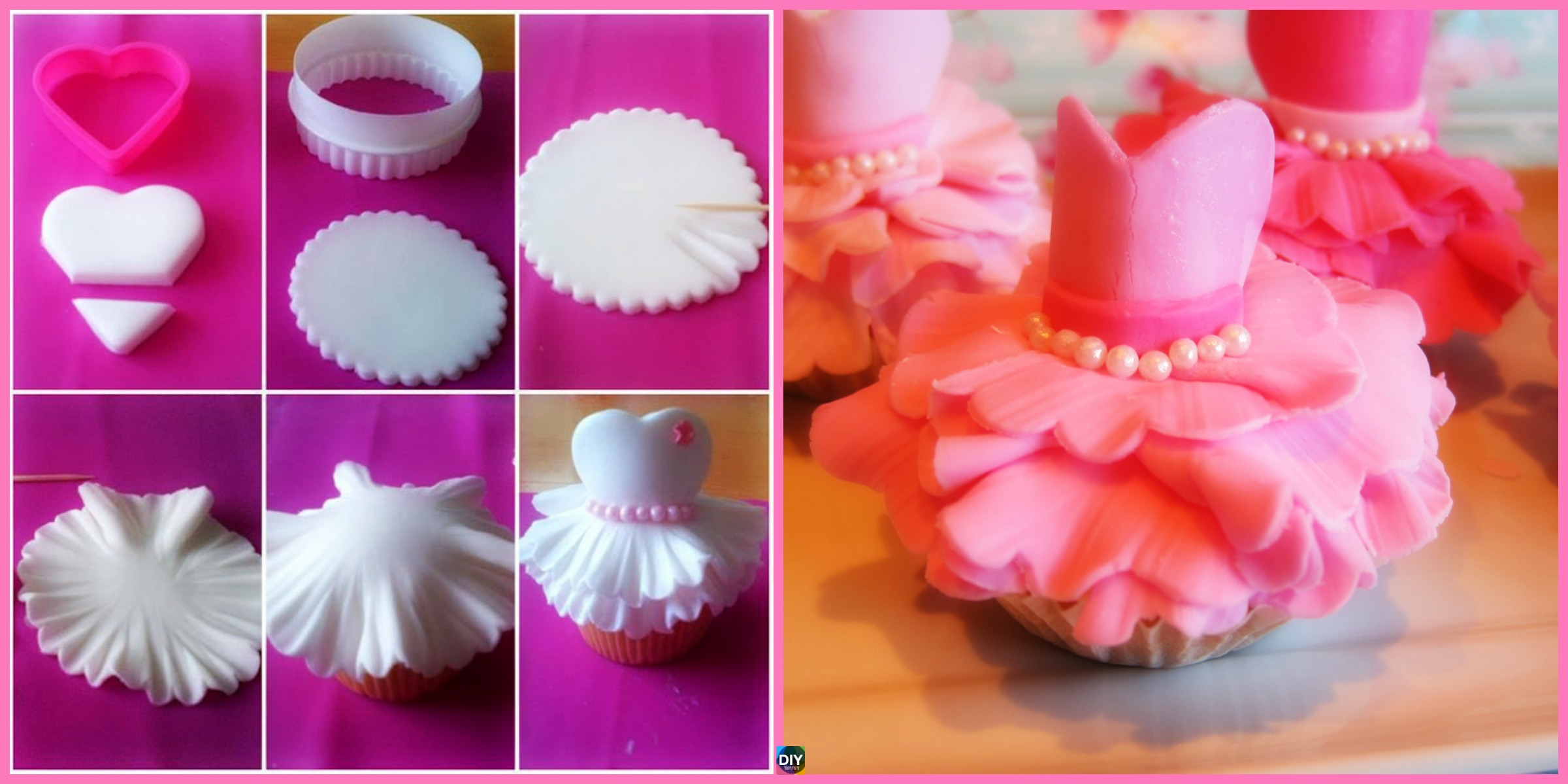Adorable DIY Ballerina Dress Cupcakes