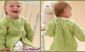 diy4ever- Adorable Knit Leaf Sweater Set - Free Pattern