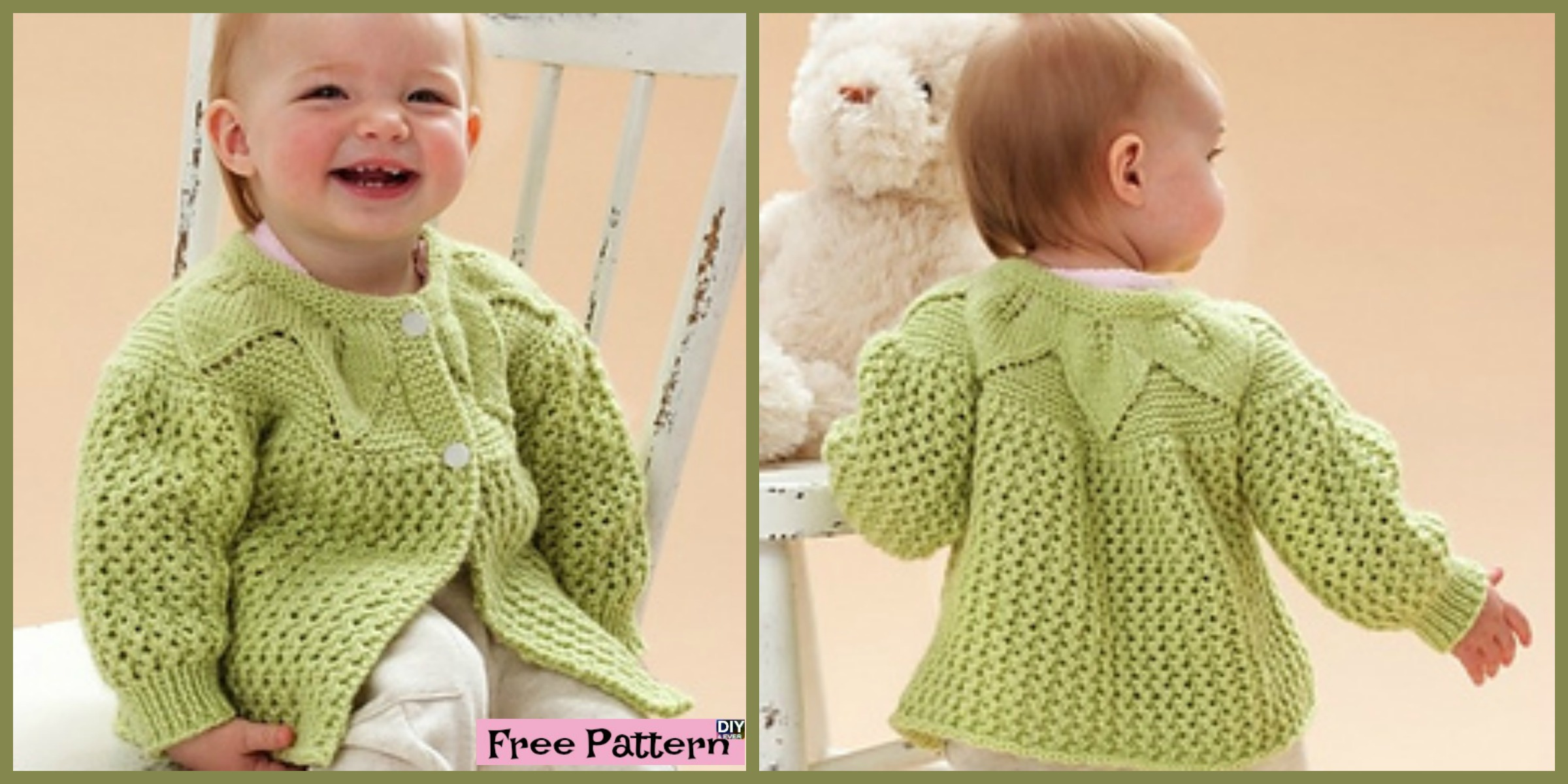 Adorable Knit  Leaf Sweater Set – Free Pattern