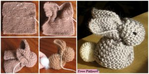 diy4ever- Adorable Knitted Bunny - Free Pattern