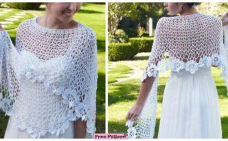 diy4ever- Beauiful Crochet Lace Shawl - Free Pattern