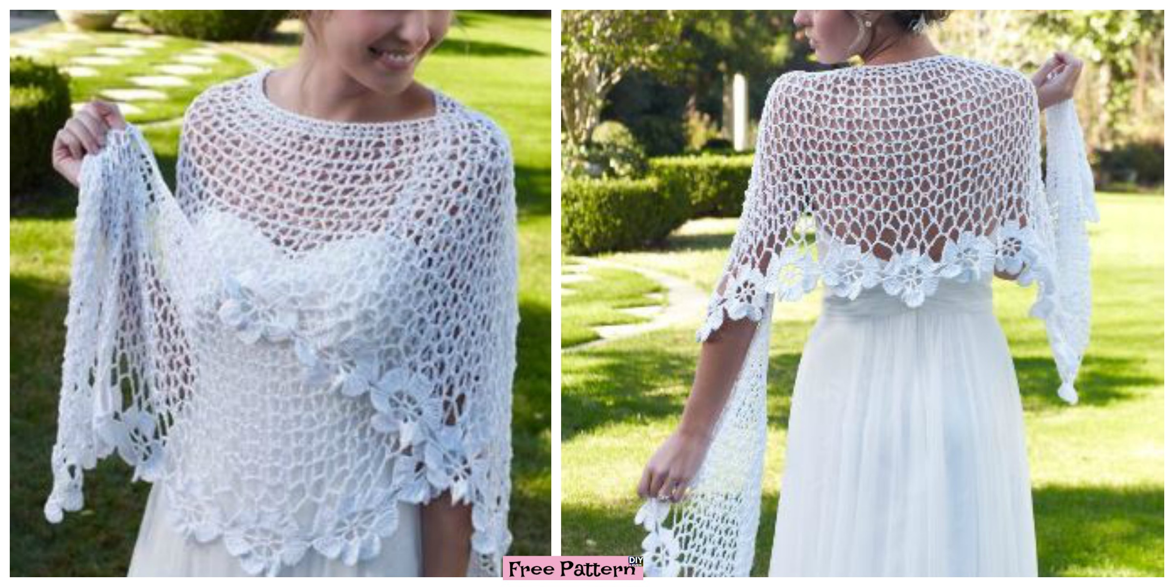 Beauiful Crochet  Lace Shawl – Free Patterns