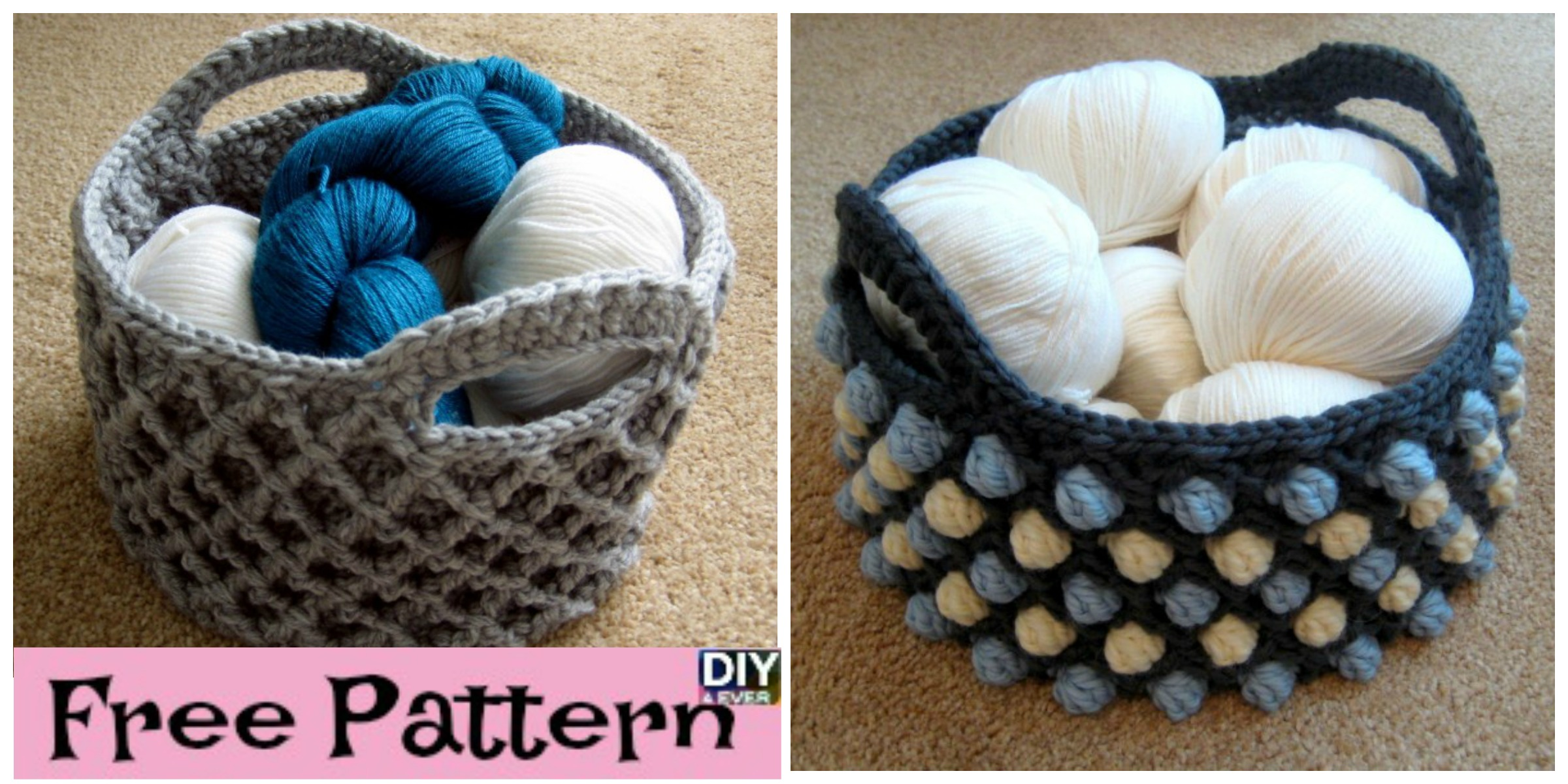 Beautiful Crochet Round Basket – Free Pattern