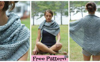 diy4ever- Beautiful Knit Triangle Shawl - Free Pattern