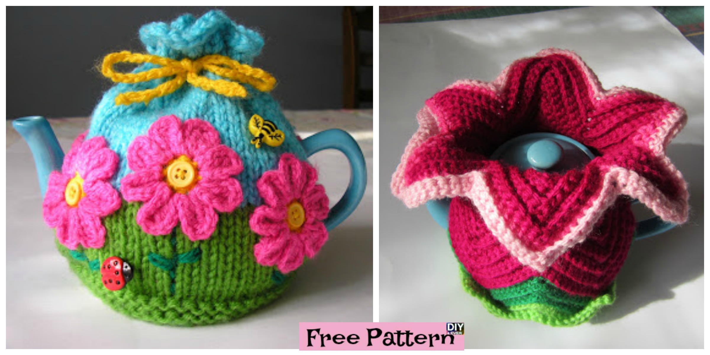 Colorful Crochet Tea Cosy – Free Patterns