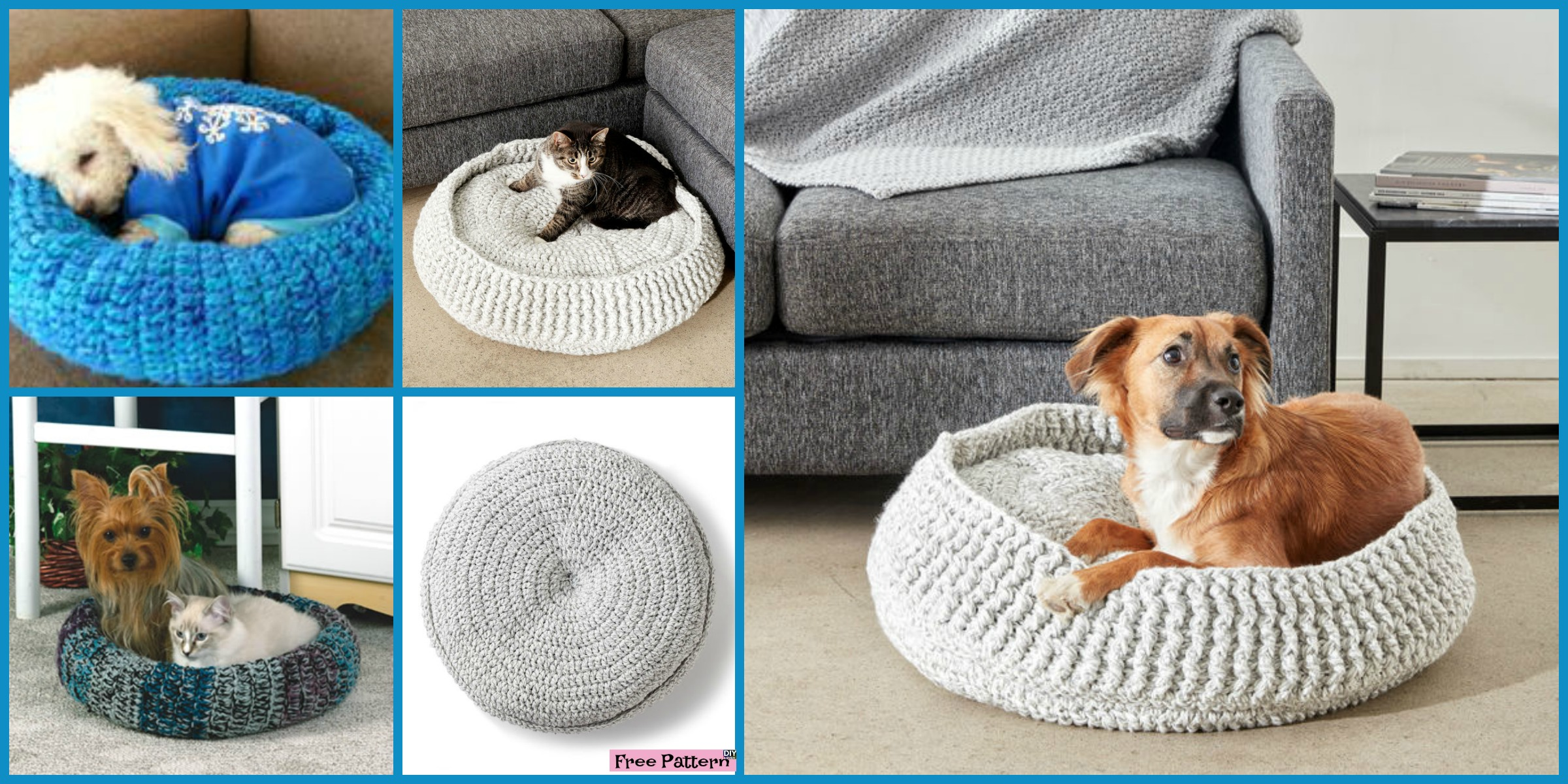 Cozy Crochet Pet Bed – Free Patterns
