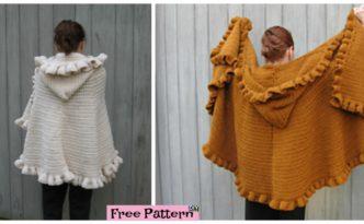 diy4ever- Cozy Crochet Ruffled Shawl - Free Pattern
