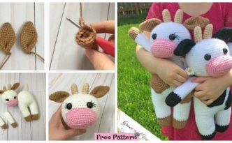 diy4ever- Crochet Amigurumi Cow - Free Pattern