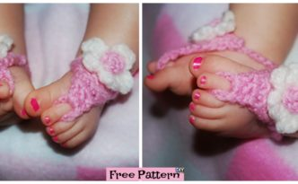 diy4ever Crochet Baby Flower Sandals - Free Pattern