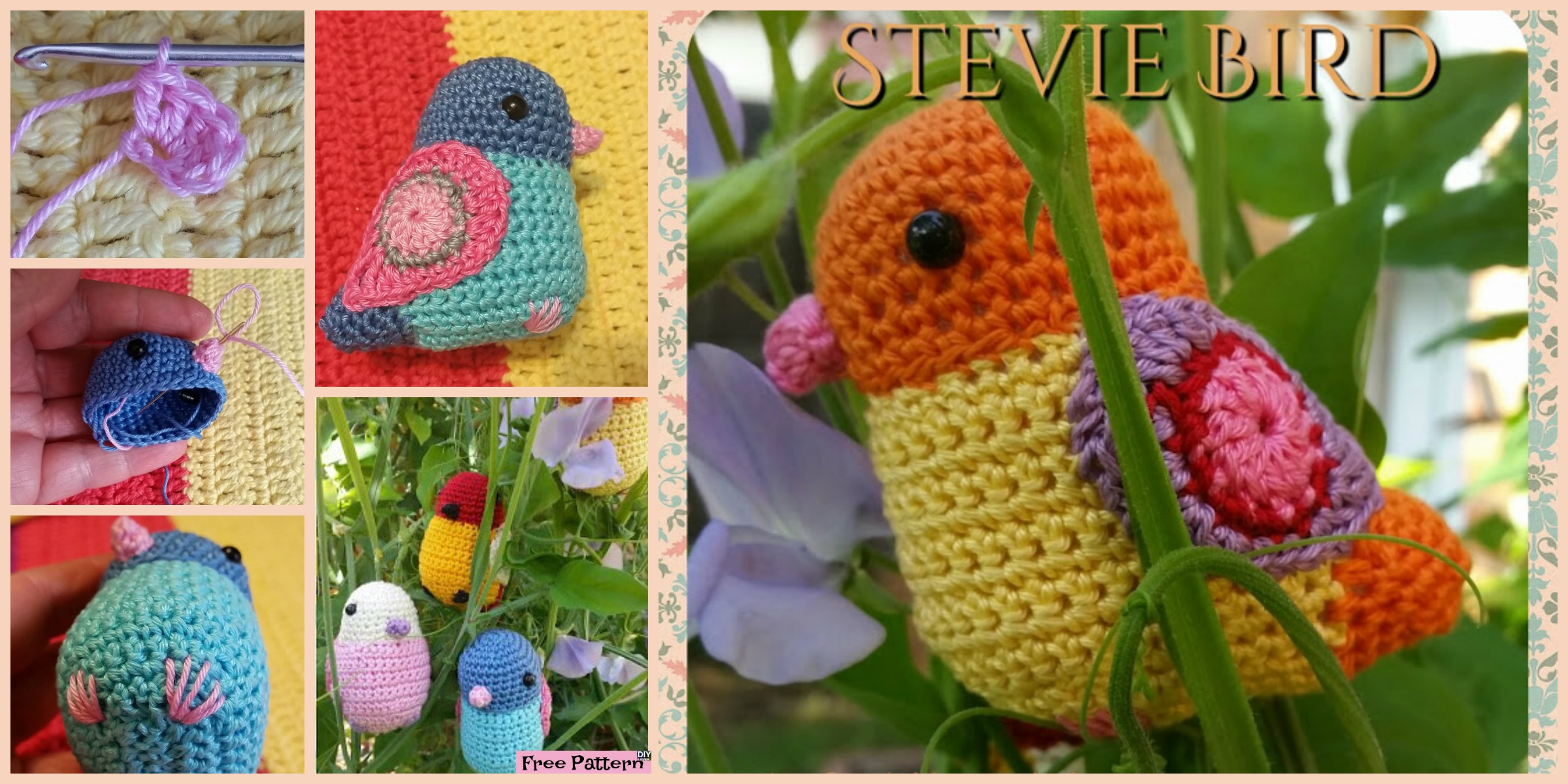 Crochet Bird Amigurumi – Free Pattern
