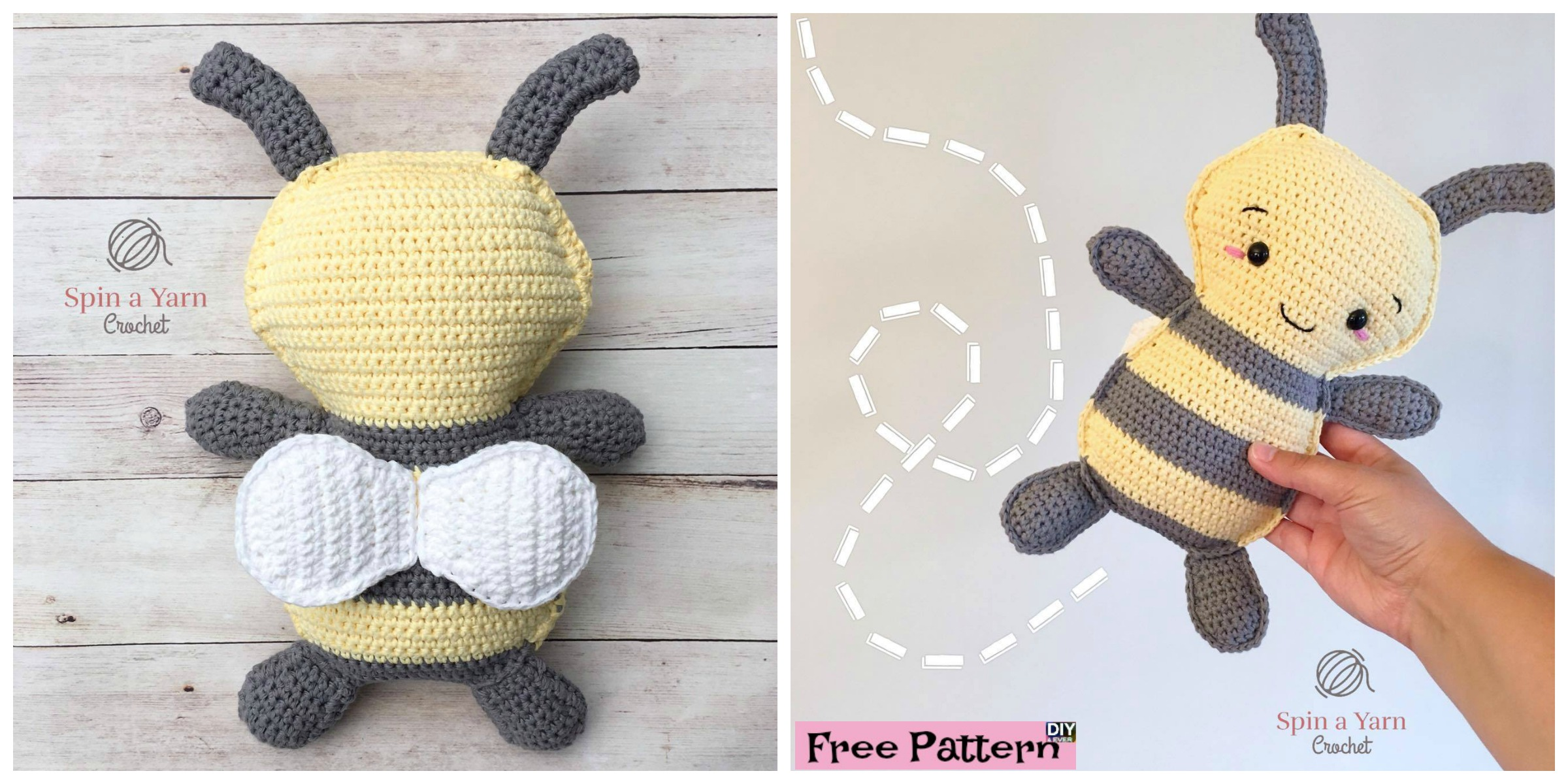 Cute Crochet Bumble Bee – Free Pattern