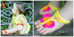 diy4ever- Cute Crochet Butterfly Sandals - Free Pattern