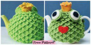 diy4ever- Crochet Crocodile Stitch Tea Cosy - Free Pattern