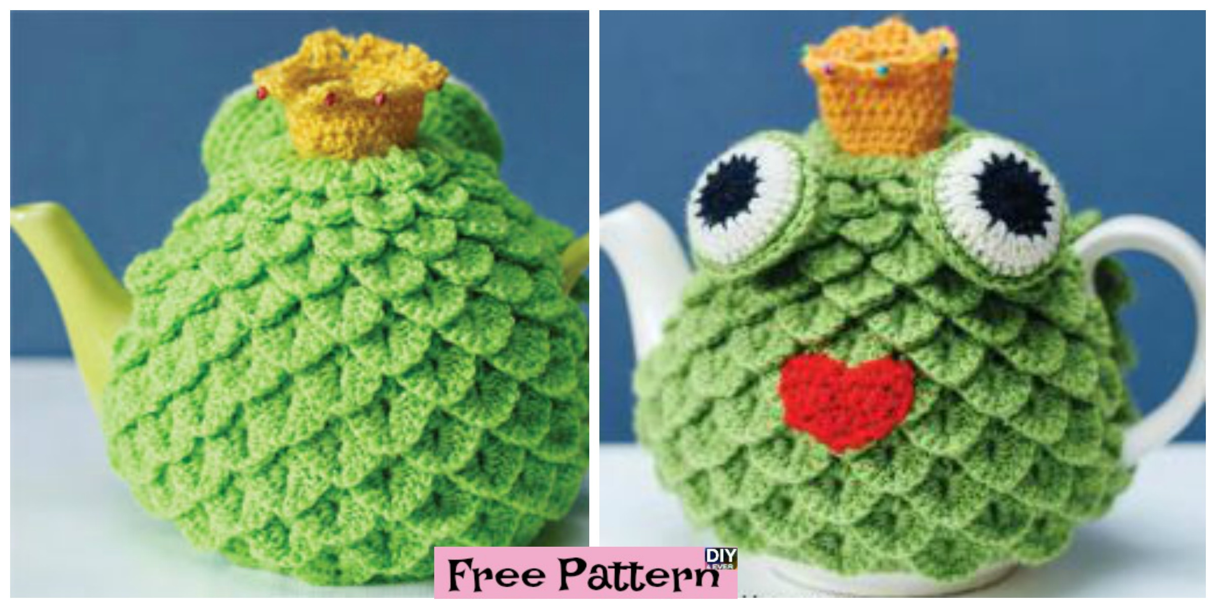Crochet Crocodile Stitch Tea Cosy – Free Pattern