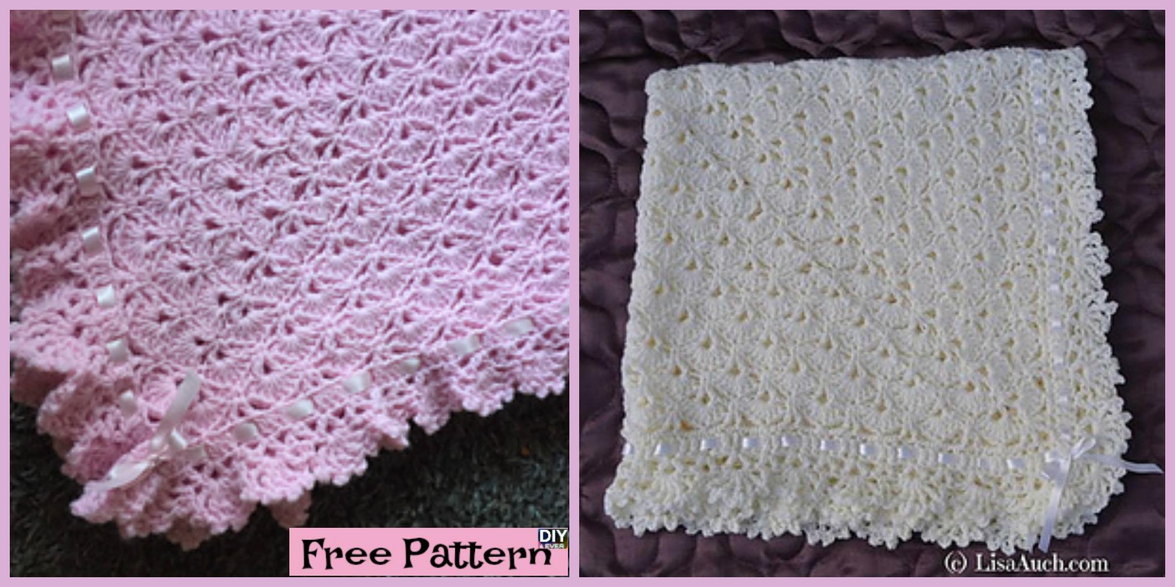 Crochet Fantail Baby Blanket – Free Pattern