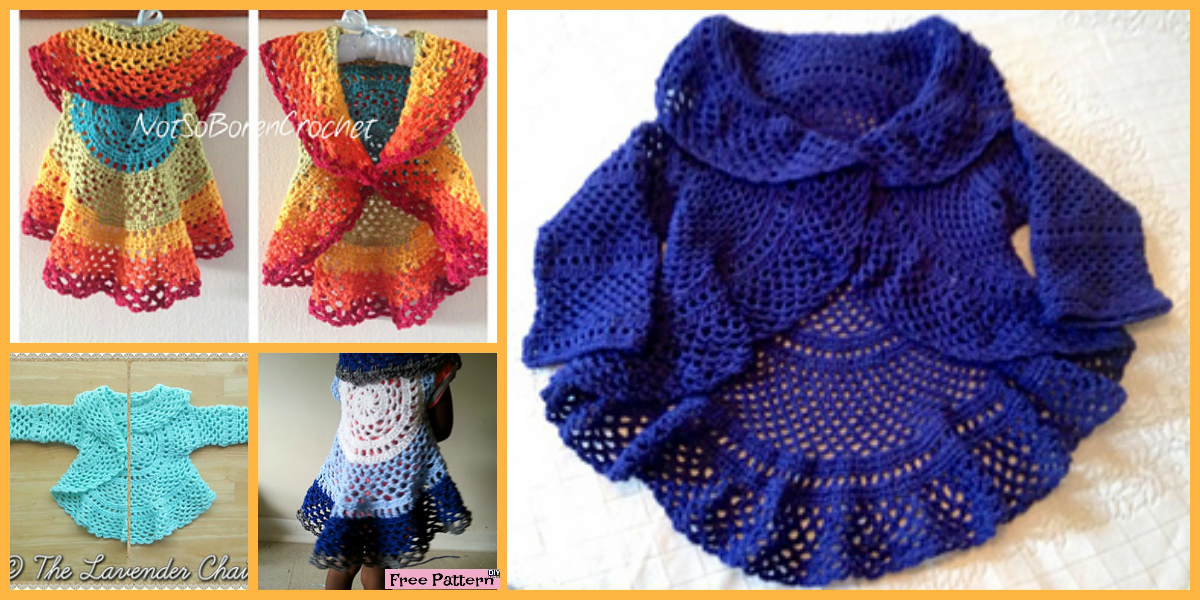 Crochet Ring Around Rosie Sweater & Vest – Free Patterns