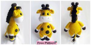 diy4ever- Cute Crochet Baby Giraffe - Free Pattern