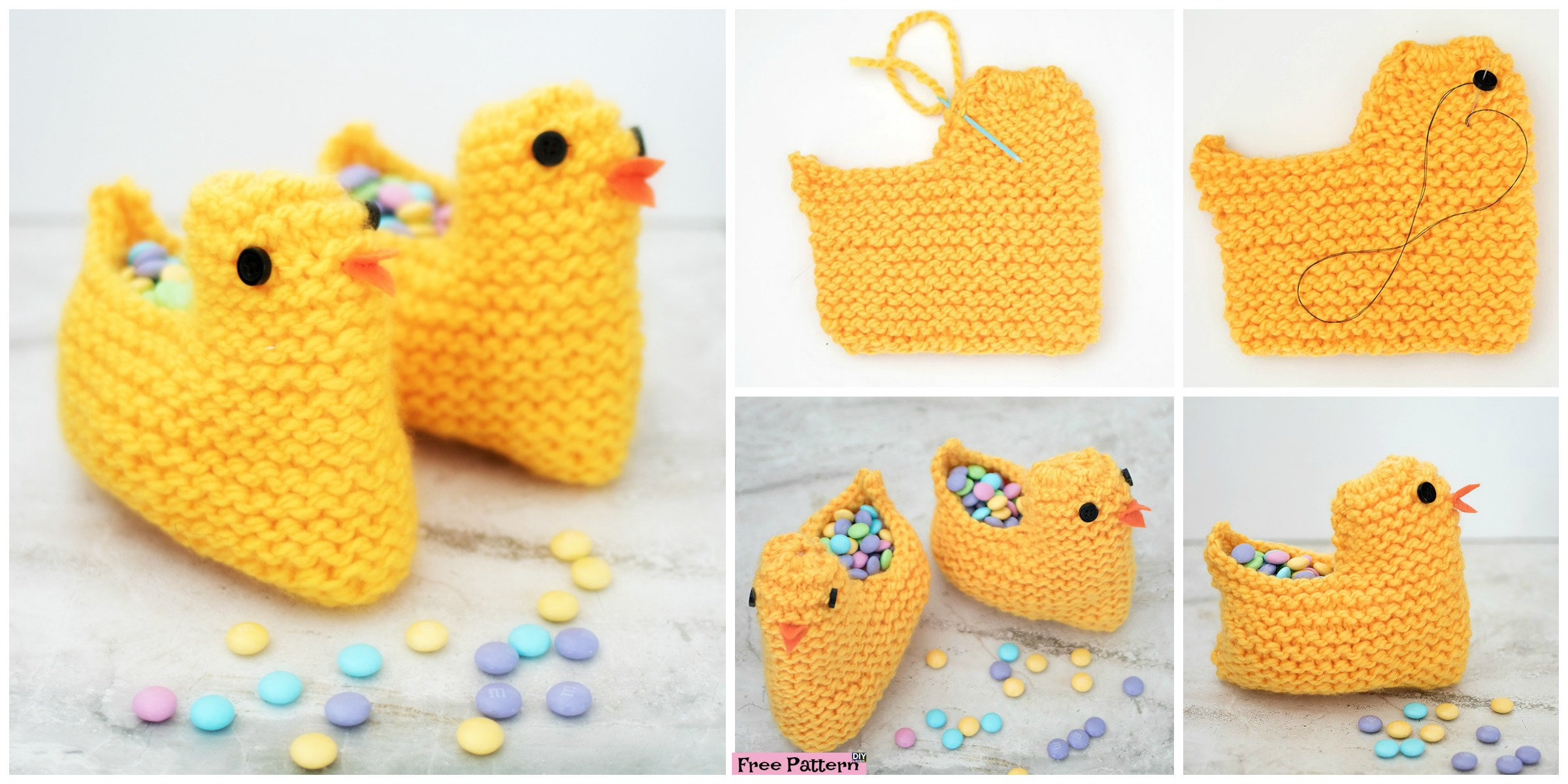 Cute Knit Chick Basket – Free Pattern