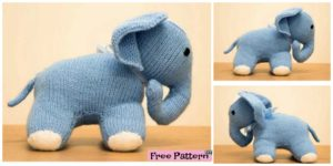 diy4ever- Cute Knit Elephant Amigurumi -Free Pattern