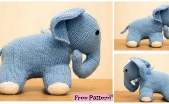 diy4ever- Cute Knit Elephant Amigurumi -Free Pattern