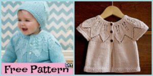 diy4ever- Cute Knitting Baby Cardigan - Free Patterns