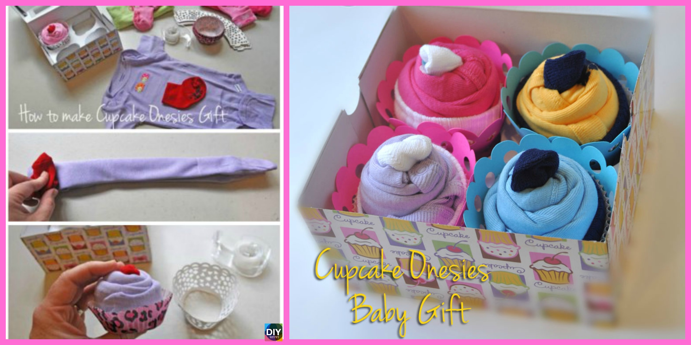 DIY Baby Clothes Cupcake Gift – So Sweet