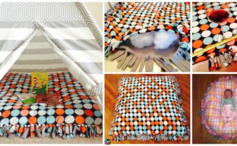 diy4ever- DIY Baby Floor Pillow Tutorial - No Sewing