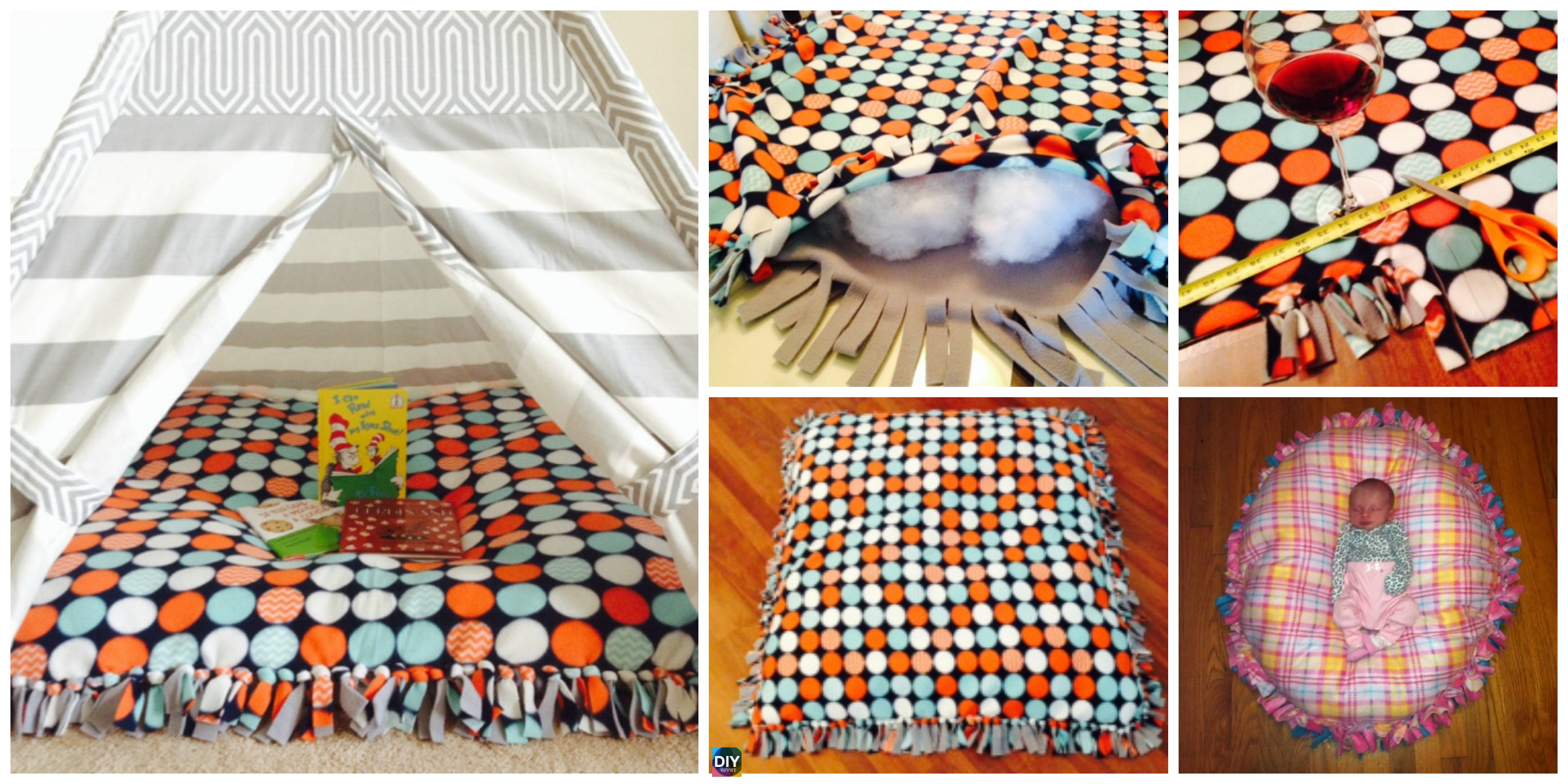 DIY Baby Floor Pillow Tutorial – No Sewing