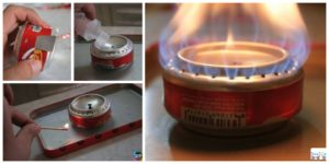 diy4ever- DIY Coke Can Stove for Hiking and Camping