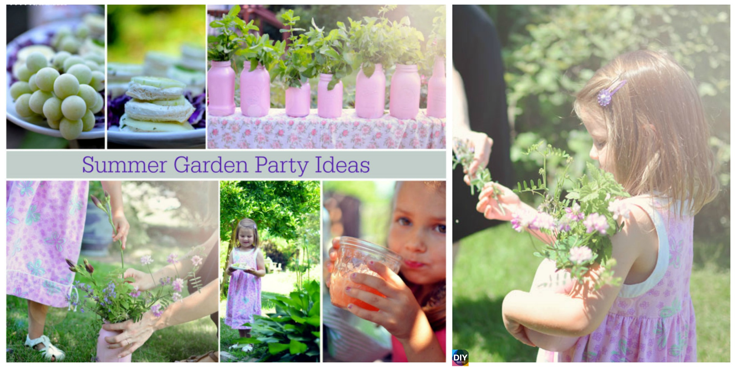 DIY Girls' Summer Garden Party Ideas