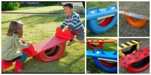 diy4ever- DIY Seesaw from Repurposed Old Tire