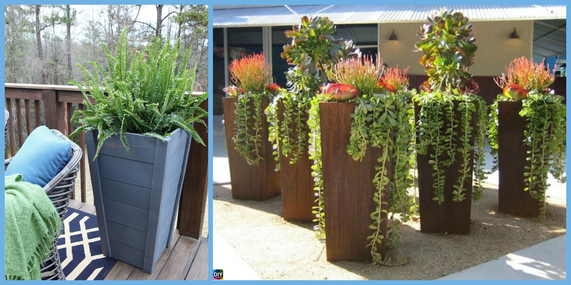 DIY Tall Planters – Unique and Beautiful