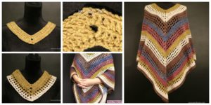 diy4ever- Easiest Crochet Lightweight Poncho - Free Pattern