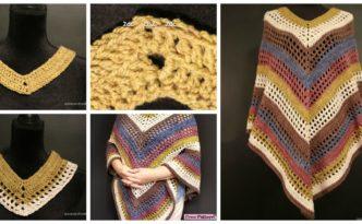 diy4ever- Easiest Crochet Lightweight Poncho - Free Pattern