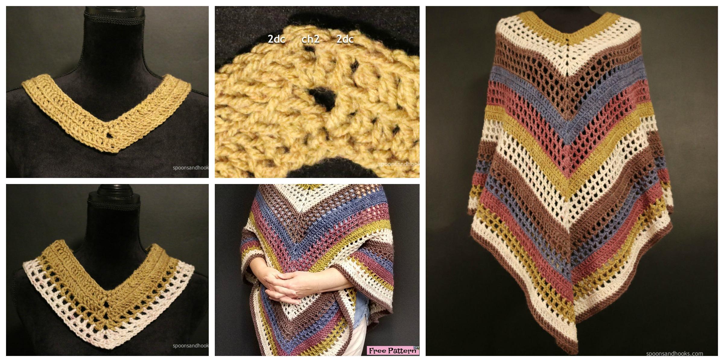 Easiest Crochet Lightweight  Poncho – Free Pattern