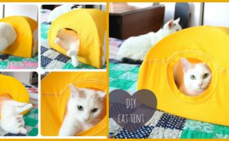 Easy & Cozy DIY Cat Tent - Step by Step Tutorial