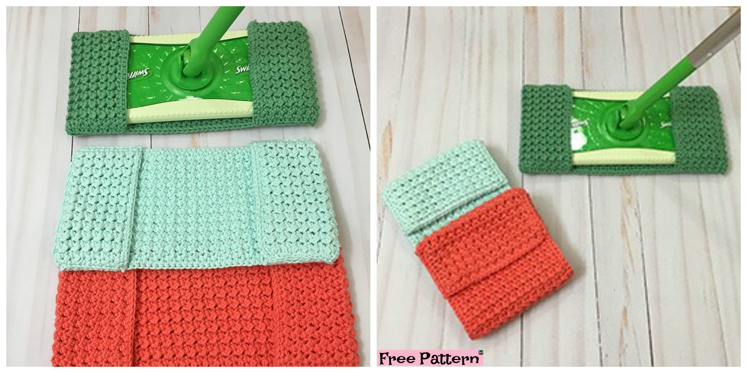 Easy Crochet Mop Cover – Free Pattern
