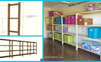 diy4ever- Easy & Low Budget DIY Garage Shelving - Free Plan