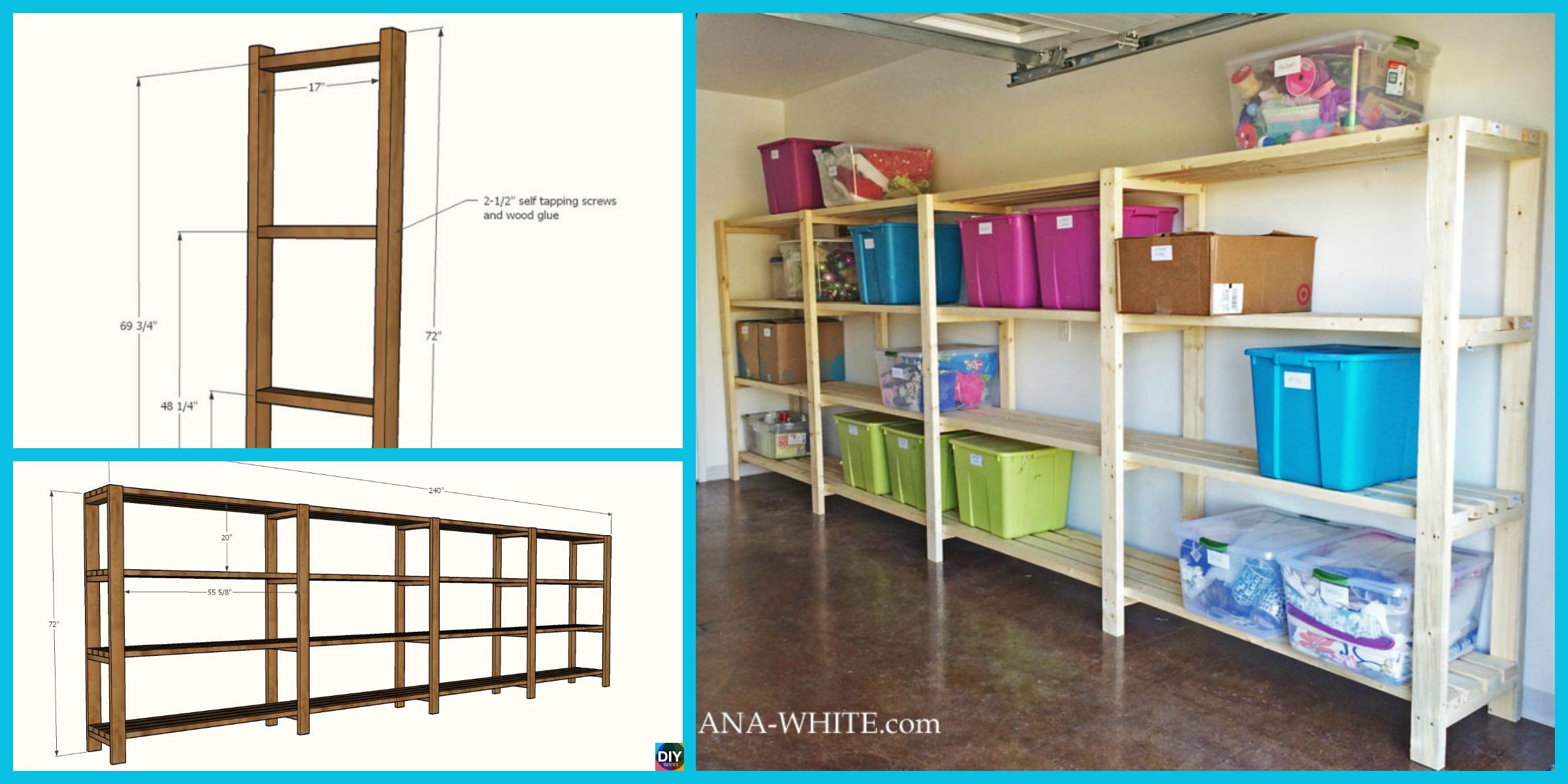 Easy & Low Budget DIY Garage Shelving – Free Plan