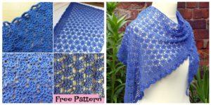 diy4ever- Elegant Crocheted Lace Shawl - Free Pattern
