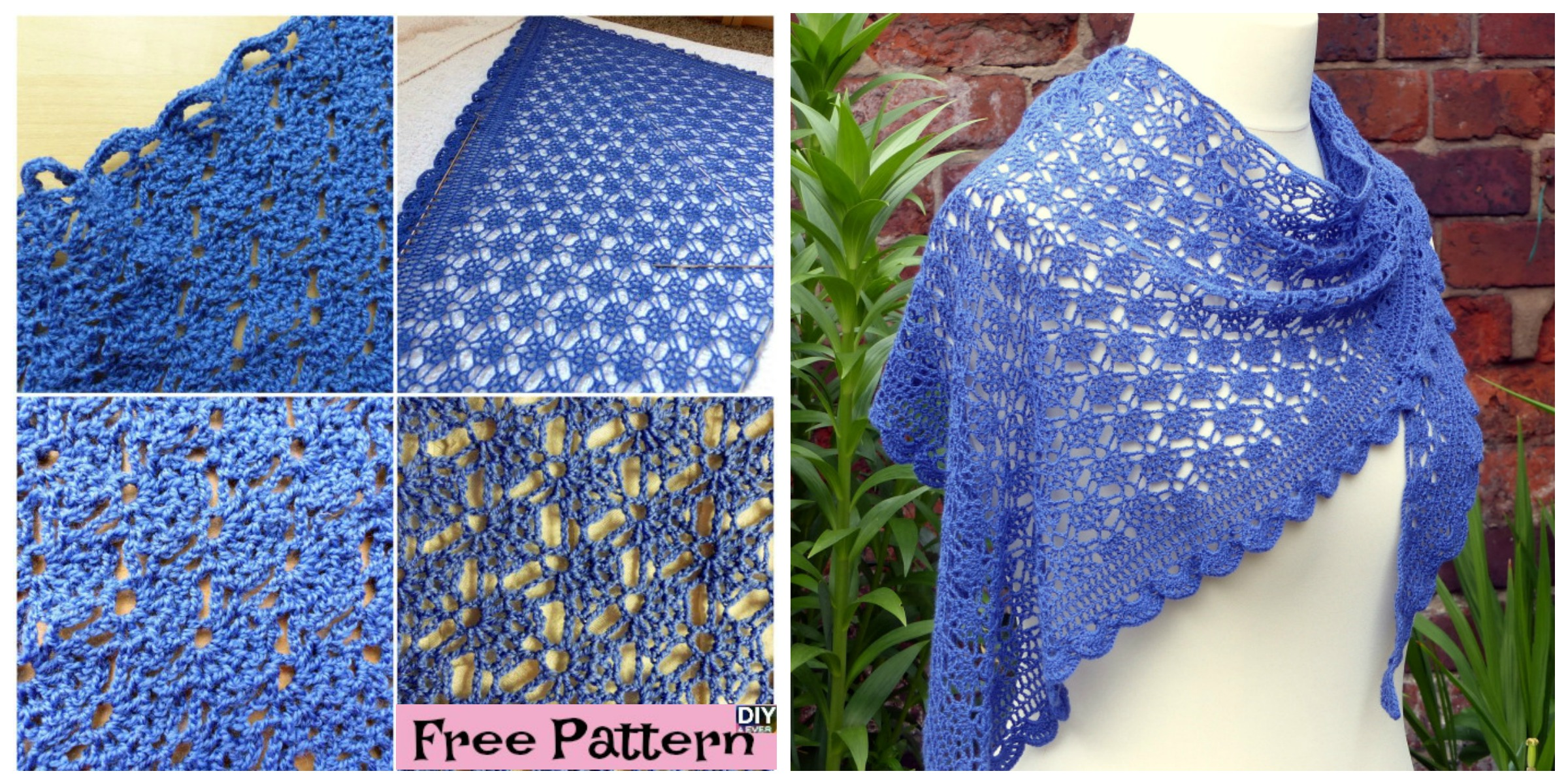 Elegant Crocheted Lace Shawl – Free Pattern