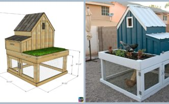 diy4ever- How to DIY Chicken Coop with Planter