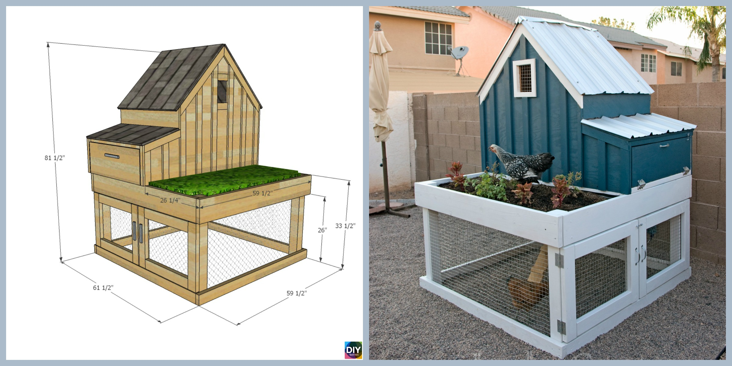 How to DIY Chicken Coop with Planter