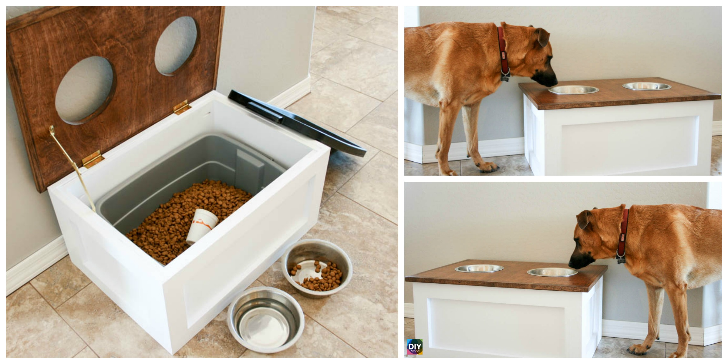 How to DIY Dog Food Station with Storage