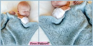 diy4ever- Knitted Baby Lace Blanket - Free Pattern