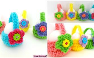 diy4ever- Little Crochet Egg Basket - Free Pattern