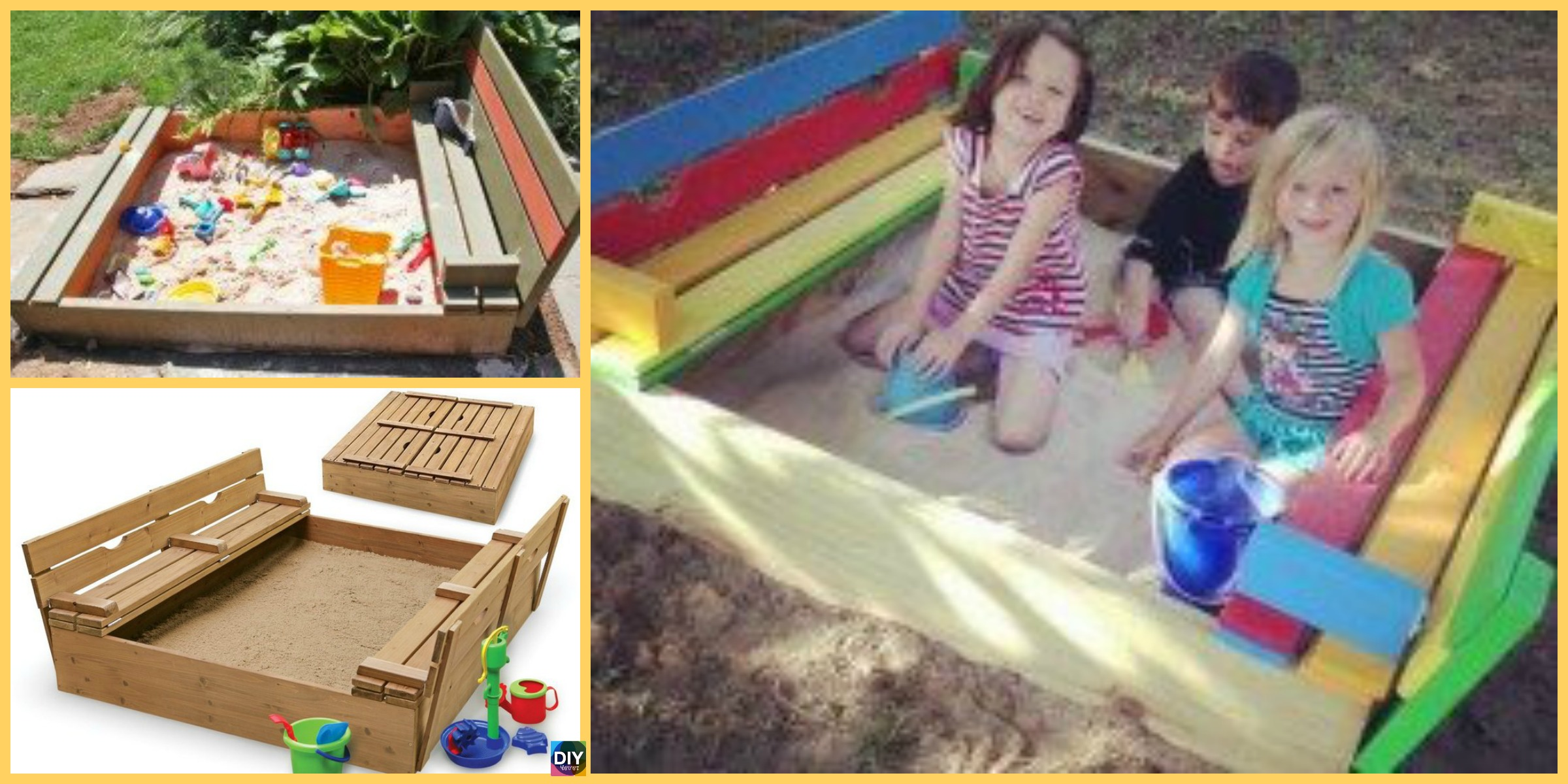 Perfect DIY Sandbox with Cover – For Kids