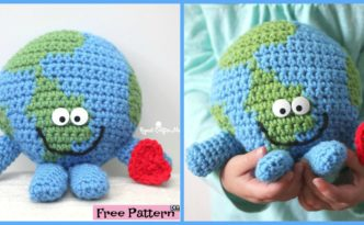 diy4ever- Planet Earth Crocheted Cuddle Buddy - Free Pattern