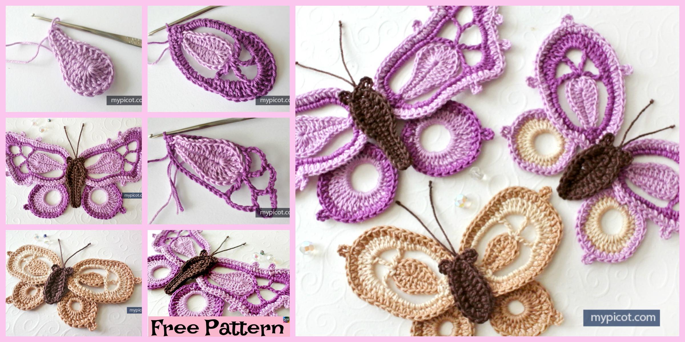 Pretty Crochet Dragon Butterfly  – Free Pattern